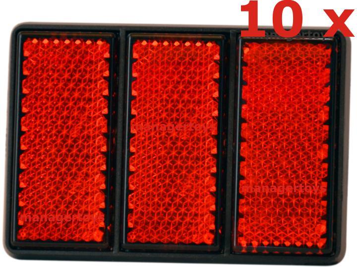 10 x Reflektor Rückstrahler Katzenauge ROT je 75 mm Durchmesser HR RICHTER