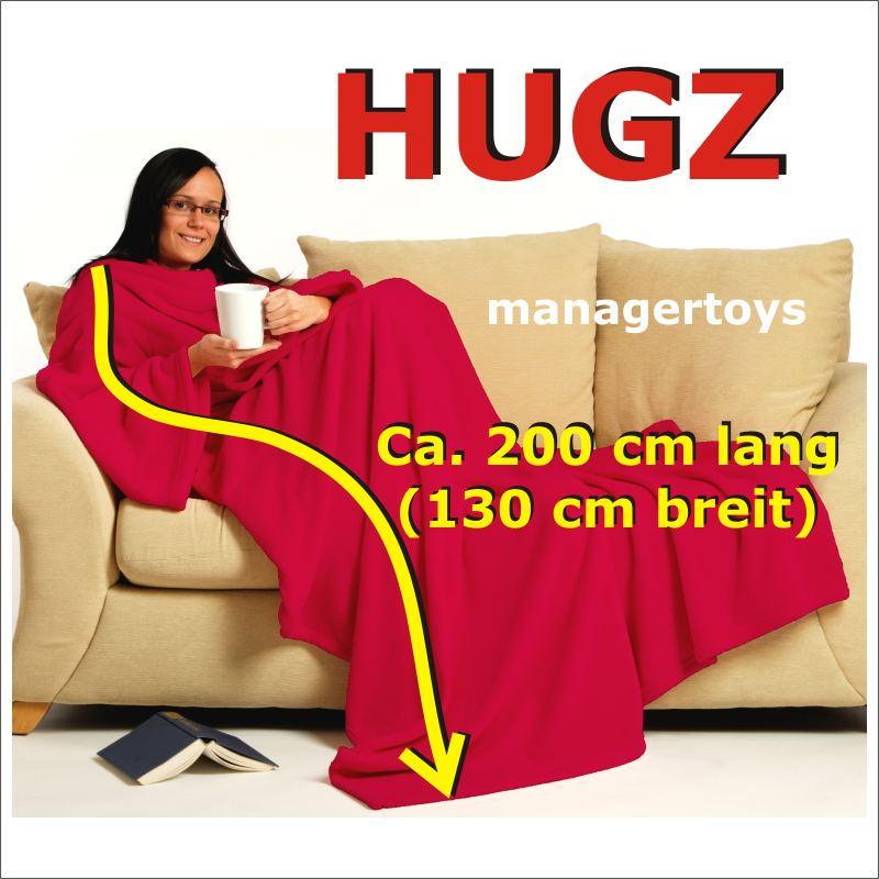 HUGZ-Deluxe-Decke-mit-Armeln-kuschelweich-in-ROT