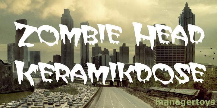 zombie kopf keksdose keramikdose zombie head cookie jar. Black Bedroom Furniture Sets. Home Design Ideas